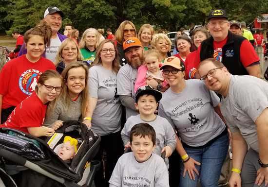 Team Reilly's World, Dr. John Herzenberg, Marilyn Richardson, and other participants at the 2019 Race For Our Kids